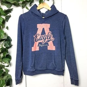 FREE W/PURCHASE🌟 AEO Blue Coral Logo Hoodie